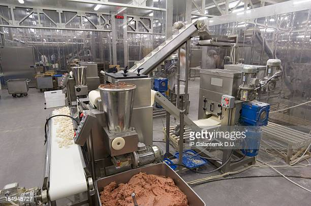 Production line in the food factory.