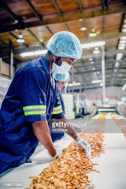 Production Line Workers at a Food Processing Plant