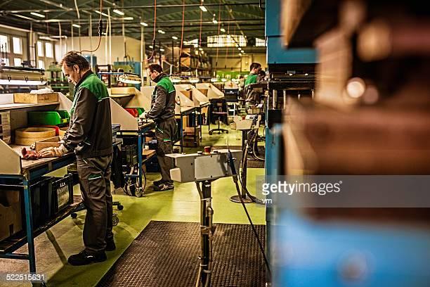 Línea de producción de los trabajadores
