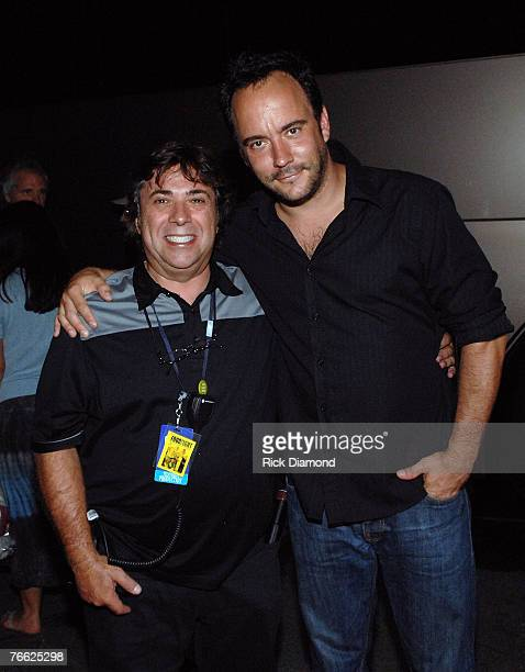 Production Mananger Steve Guddis and recording Artist Dave Matthews Backstage at Farm Aid 2007 AT ICAHN Stadium on Randall's Island NY September 92007