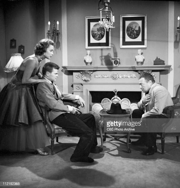 Production of 'Casino Royale' featuring Linda Christian as Valerie Mathis, Barry Nelson as James Bond and Peter Lorre as Le Chiffre. Image dated...