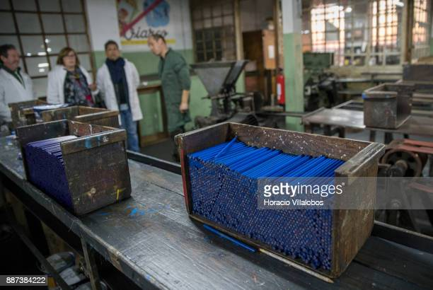 Production of painted pencils at Viarco a pencil factory opened in 1907 still preserving the handmade manufacturing process shown to participants of...
