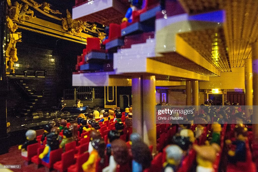 A production of Phantom of the Opera takes place in a Lego Her Majesties Theatre, made out of 57,992 bricks over 11 months at ExCel on December 10, 2015 in London, England. Brick 2015 is an exhibition dedicated to Lego and runs at London's ExCel over three days starting on the 11th December. It features displays including Harry Potter, landmarks such as Big Ben and a dance music festival.