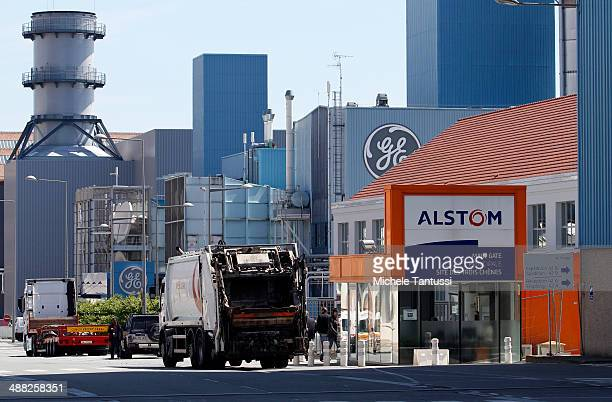 Production plants of engineering firms General Electric and Alstom stand near each other on May 5 2014 in Belfort France General Electric is seeking...
