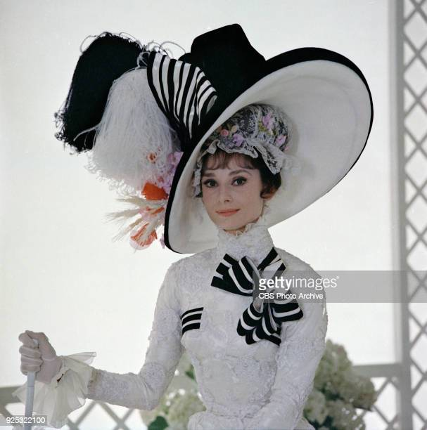 Production shot of 'My Fair Lady' with Rex Harrison as Professor Henry Higgins center Original release date December 25 1964