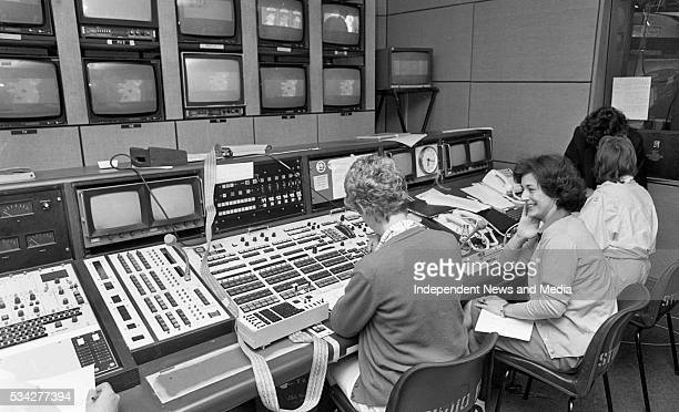 Production staff in RTE for the Daybreak LA programme, a Breakfast TV Special on the Olympics. Picture Liam Mulcahy 30/7/84 .