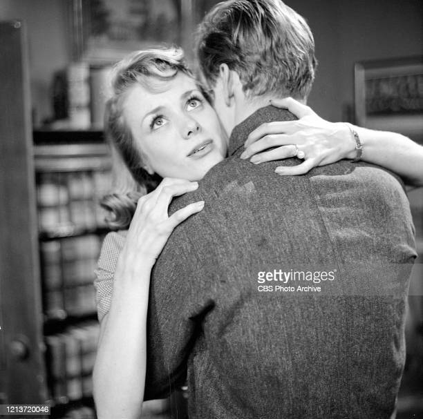 Production still of Swedishborn American actress Inger Stevens in an episode of the television anthology series 'Studio One' called 'The Conviction...