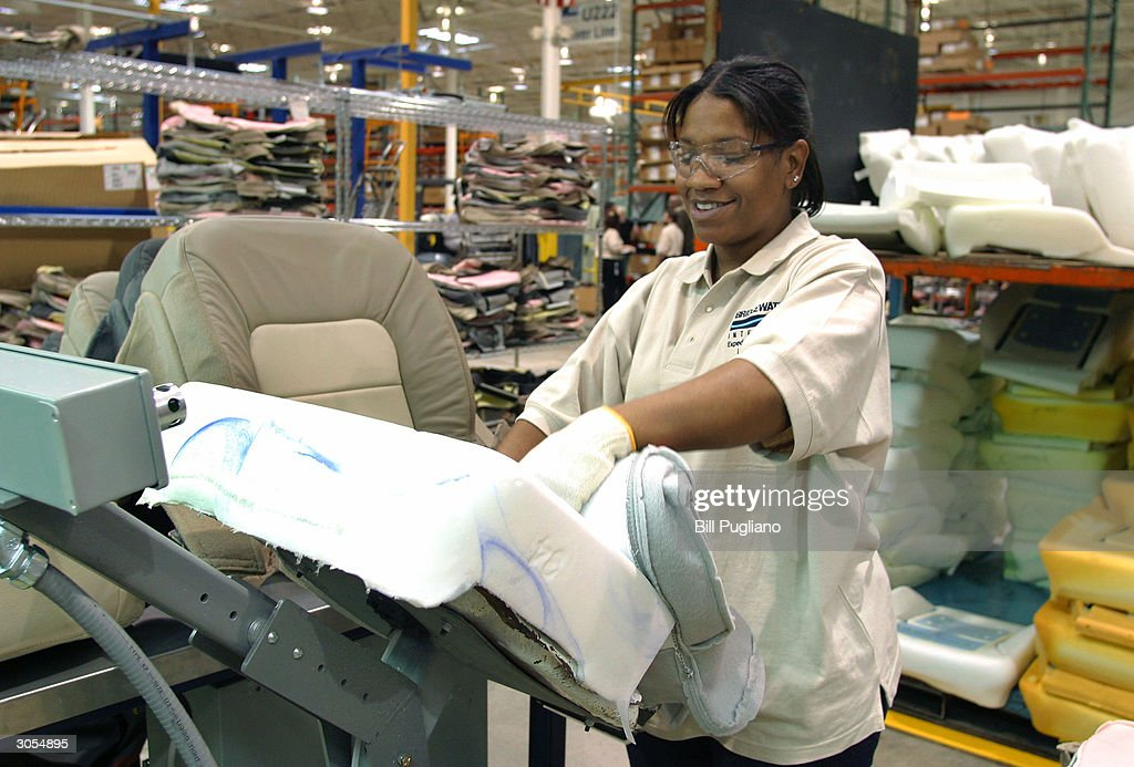 Elegant A Production Worker Assembles A Car Seat At The Bridgewater Interiors  Manufacturing Plant March 8,
