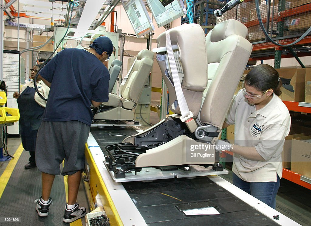 Captivating Production Workers Assemble Car Seats At The Bridgewater Interiors  Manufacturing Plant March 8, 2004 In