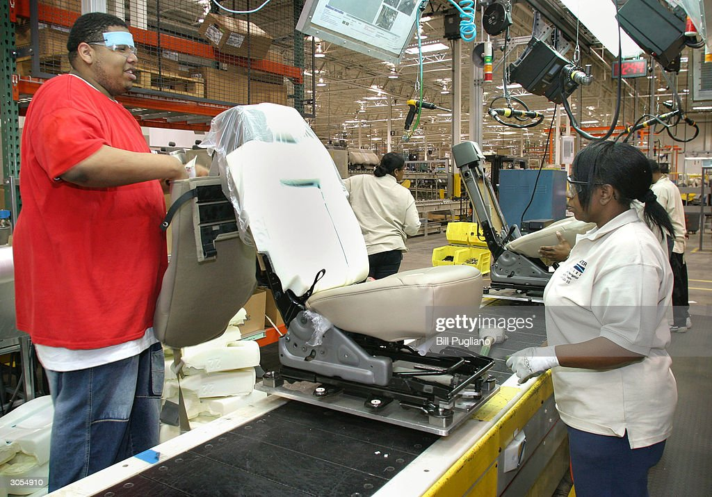 Amazing Production Workers Assemble Car Seats At The Bridgewater Interiors  Manufacturing Plant March 8, 2004 In