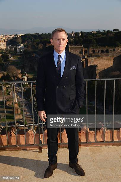 Productions MetroGoldwynMayer and Sony Pictures Entertainment commence filming in Rome Italy for the 24th James Bond adventure SPECTRE Pictured...