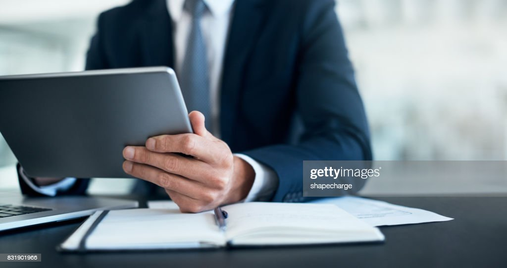 Productivity is in his hands : Stock Photo