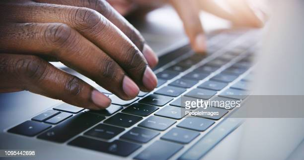productivity right at his fingertips - computer keyboard stock pictures, royalty-free photos & images