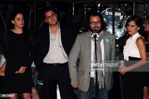 Productor Constanza Novick actor Martin Altomaro productor Pedro Cruz and actress Ana Claudia Talancon during Photo Call of the television series I'm...