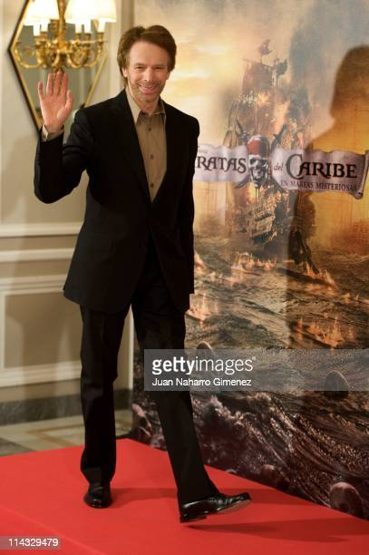 Productor Jerry Bruckheimer attends 'Pirates Of The Caribbean On Stranger Tides' photocall at Villamagna Hotel on May 18 2011 in Madrid Spain