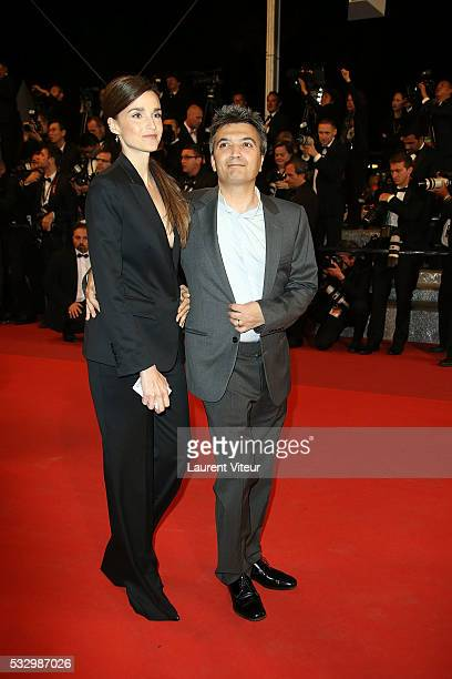 Productor Thomas Langmann and his wife Cline Bosquet attend the 'It's Only The End Of The World ' Premiere during the 69th annual Cannes Film...