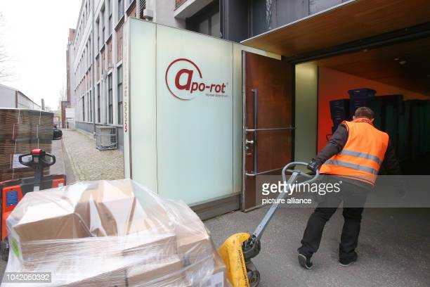 Products are delivered to the logistics centre of the mailorder pharmarcy aporot in Hamburg Germany 21 April 2017 Photo Bodo Marks/dpa | usage...