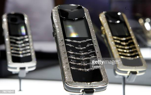 Products are displayed at the Millionaire Fair 2007 at Crocus Expo November 22, 2007 in Moscow, Russia. The Millionaire Fair, the world's largest...