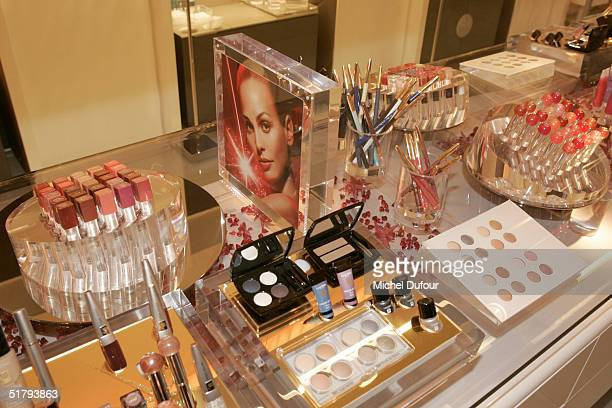 Products at a party offered by Lancome to present their new shop on November 25, 2004 in Paris, France.