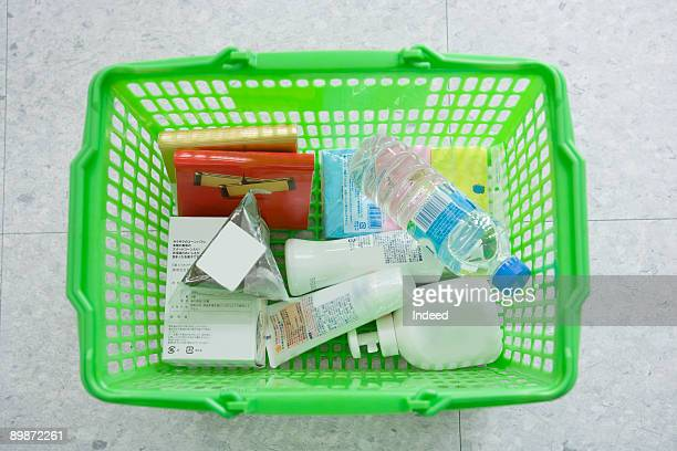 Products in shopping basket