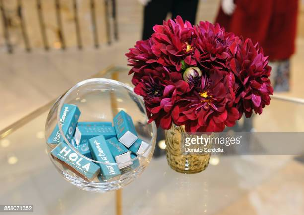 Products on display at a Cocktail Event in support of HOLA Heart of Los Angeles hosted by Barneys New York at Barneys New York Beverly Hills on...