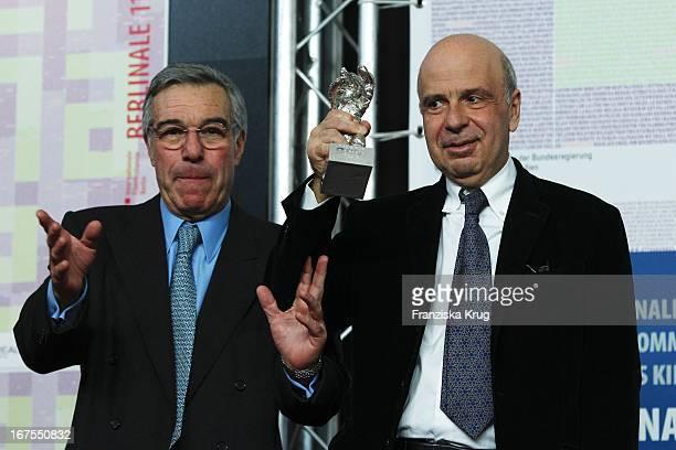 Produzenten Robert Benmussa Und Alain Sarde Auf Der Pressekonferenz Der Gewinner Der 60 Berlinale 2010 Im Hotel Hyatt In Berlin Am 20022010 Photo by...