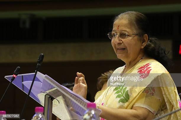 Prof Dorinha Seabra Rezande from Brazil Deputy Chairperson of Council of Russian Federation Galina Karelova Rajasthan Chief Minister Vasundhara Raje...