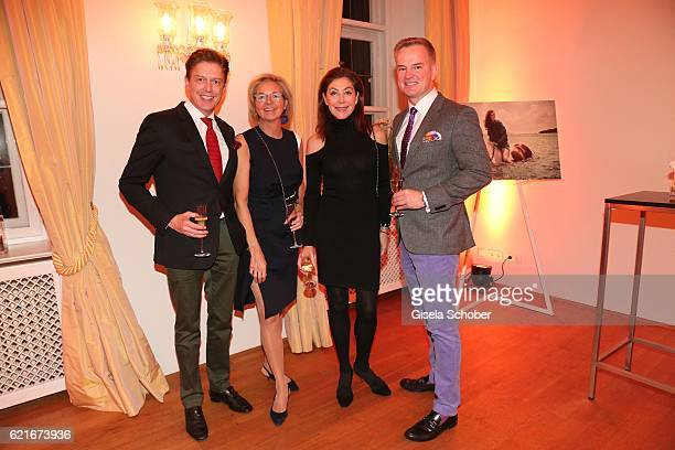 Prof Dr Bruno Meiser Inga GrieseSchwenkow Alexandra von Rehlingen and Felix Raslag during the birthday party for the 10th anniversary of ICON at...