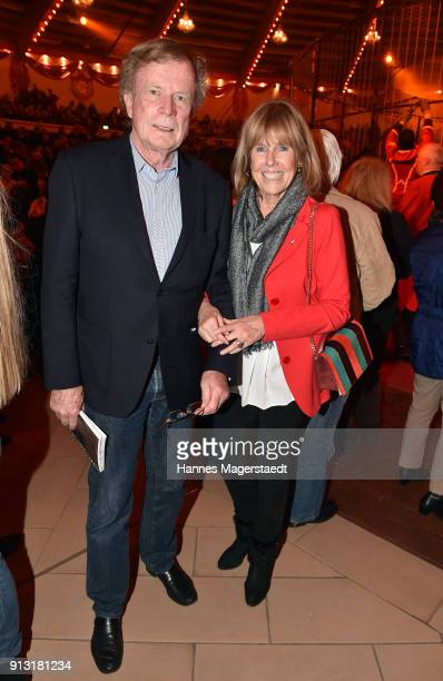 Prof Dr Bruno Reichart and his wife Elke Reichart during Circus Krone celebrates premiere of 'Hommage' at Circus Krone on February 1 2018 in Munich...