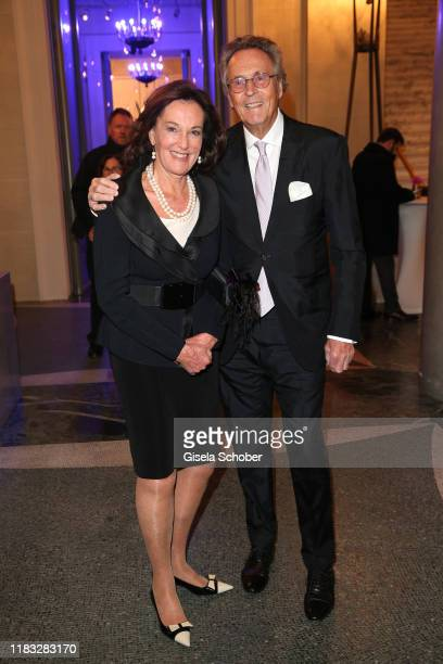 Prof Dr Constanze Neuhahn Lorenz and Lothar Strobach at the opera premiere of Die tote Stadt by Erich Wolfgang Korngold at Bayerische Staatsoper on...