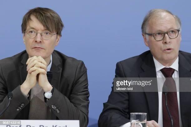 Prof. Dr. Dr. Karl Lauterbach, SPD-Gesundheitsexperte und stellvertretender Vorsitzender der SPD-Bundestags-Fraktion, Rudolf Bernard, Präsident des...