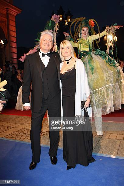 """Prof. Dr. Guido Knopp Knopp and wife Gabriella the """"German Opera Ball"""" In The Old Open In Frankfurt"""