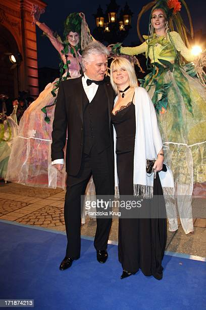 Prof Dr Guido Knopp Knopp and wife Gabriella the German Opera Ball In The Old Open In Frankfurt