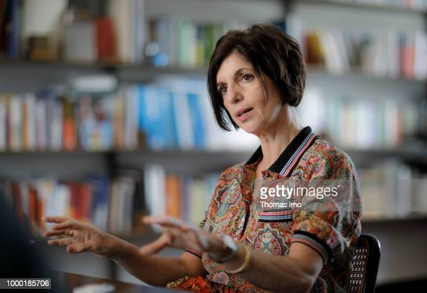 Prof Dr hc Jutta Allmendinger President of the WZB Berlin Social Science Center is pictured during an interview on May 16 2018 in Berlin Germany
