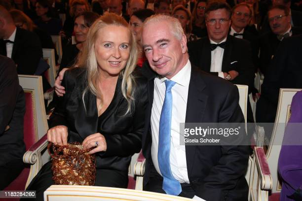 Prof Dr Johannes Kreile and his wife Rena Kreile at the opera premiere of Die tote Stadt by Erich Wolfgang Korngold at Bayerische Staatsoper on...