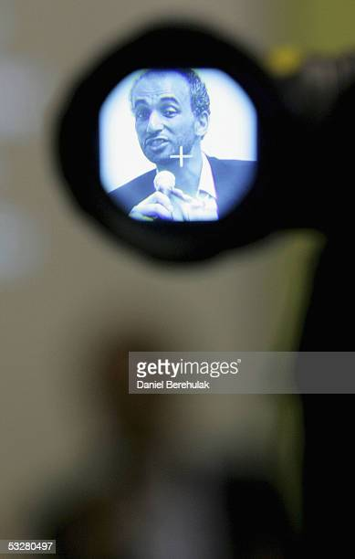 Prof Dr Tariq Ramadan speaks to the media during The Middle Path Conference at the Islamic Cultural Centre on July 24 2005 in London England The...