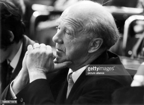 Prof Dr Werner Heisenberg on the congress '100 years Arnold Sommerfeld' on 9th September 1968 Heisenberg invented the Heisenberg uncertenty principle...