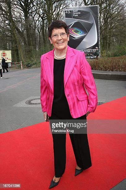 Prof DrDr Rita Süssmuth Bei Der 43 Verleihung Des Adolf Grimme Preis Im Theater In Marl Am 300307