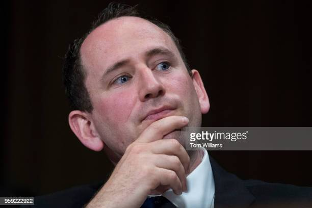 Prof Eitan Hersh testifies during a Senate Judiciary hearing in Dirksen Building titled 'Cambridge Analytica and the Future of Data Privacy'' on May...
