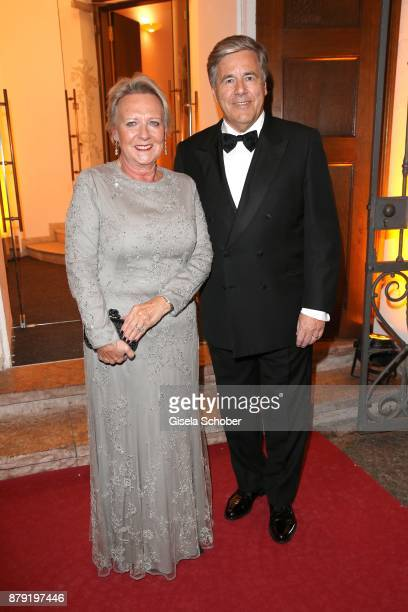 Prof Josef Ackemann and his wife Pirkko Ackermann during the 80th birthday party of Roland Berger at Cuvillies Theatre on November 25 2017 in Munich...