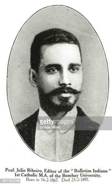 prof julio ribeiro editor of bulletim indiano 1st catholic ma of bombay university born in 16 2 1867 died 23 2 1897 - asiático e indiano fotografías e imágenes de stock