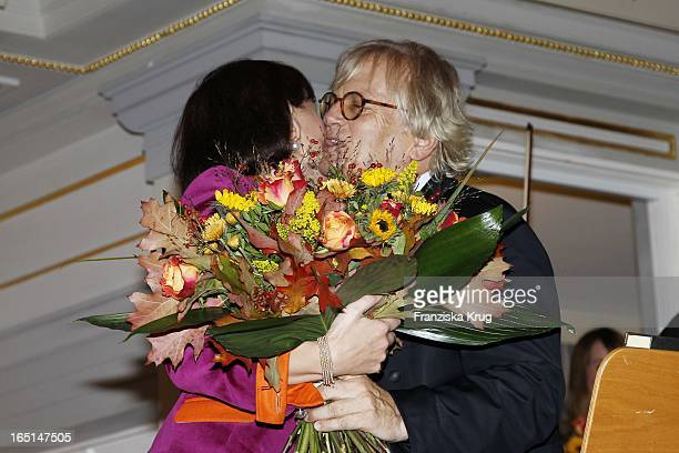 Prof Justus Frantz Und Irina Von Bismarck Beim Prix Montblanc 2010 Im Konzerthaus Am Gendarmenmarkt In Berlin