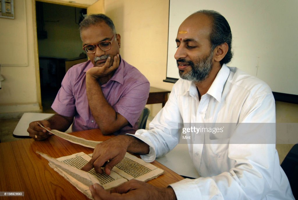 Prof Malhar Kulkarni with Prof Ramsubramanian at the Sanskrit cell of IIT Mumbai.