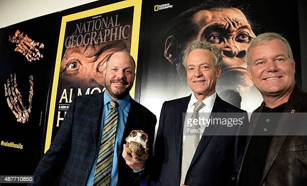 Prof Paul Dirks Terry Garcia Chief Science and Exploration Officer at National Geographic and Prof Lee Berger reveal the discovery of a new species...