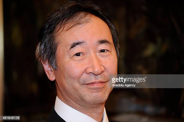 Prof. Takaaki Kajita, Nobel prize winner in Physics for the discovery of neutrino oscillations, which shows that neutrinos have mass, poses at Tokyo...