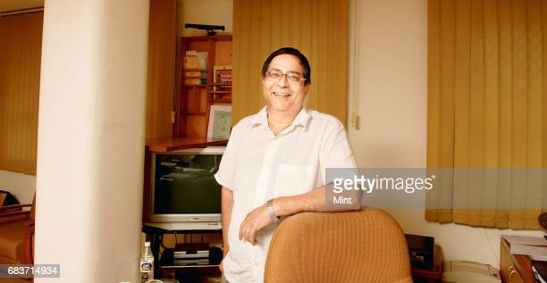 Prof TCA Anant Chief Statistician of India photographed at his office at Sardar Patel Bhavan in New Delhi
