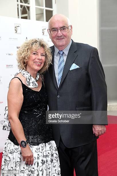 Prof Werner Weidenfeld and his wife Gabriele KokottWeidenfeld during the 'Die Goldene Deutschland' Gala on July 26 2015 at Cuvillies Theater in...