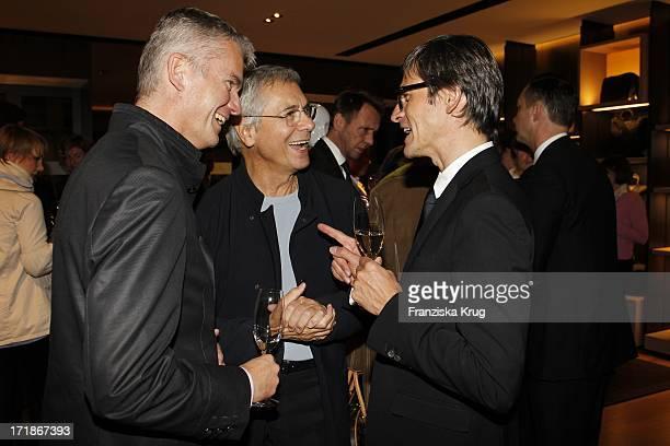 ProfDrDr Hermann Reichenspurner Prof John Neumeier And Dr Bernd Hauptkorn At Bally Store Opening Event at New Wall in Hamburg