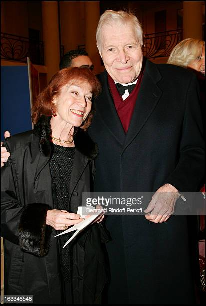 Professeur Christian Cabrol and wife Berangere at the 12th Gala Performance Musique Contre L' Oubli In Aid Of Amnesty International At Theatre Champs...