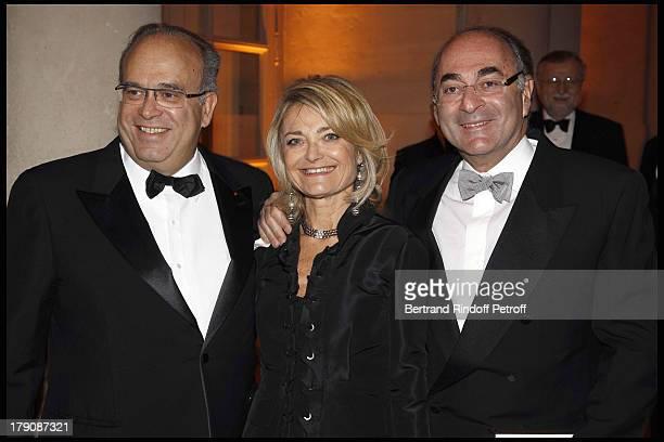 Professeur David Khayat Florence De Botton and husband Daniel De Botton at The Charity Gala Evening At Versailles Castle In Aid Of AVEC Association...